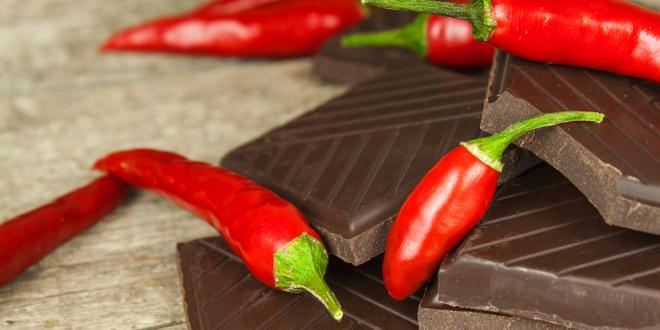 Chili peppers and dark chocolate